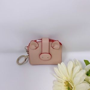 Kate Spade Year Of The Pig Card Holder/Keychain